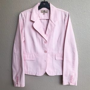 Juicy Couture Pink Blazer w/ Heart Applique